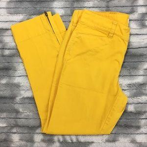 Ann Taylor Loft Marisa Crop Pants - Yellow